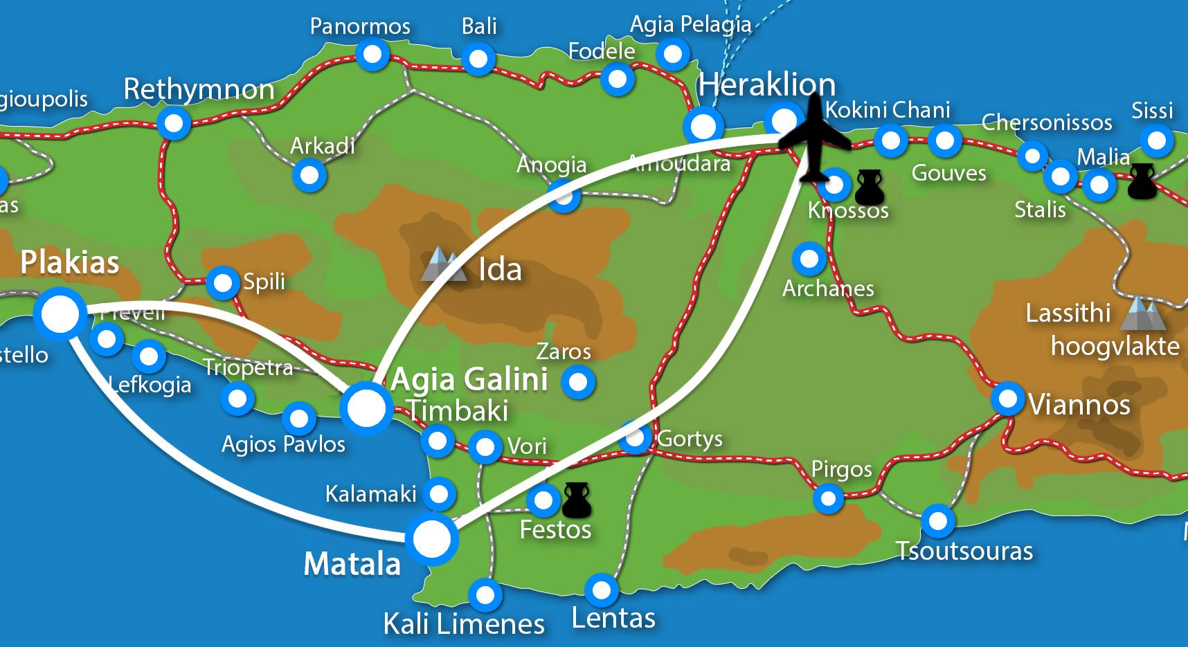 Waar ligt Fly & Drive  Agia Galini - Plakias  - Matala?