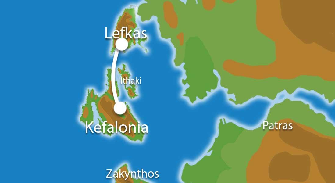 Waar ligt Eilandhoppen Lefkas Kefalonia?