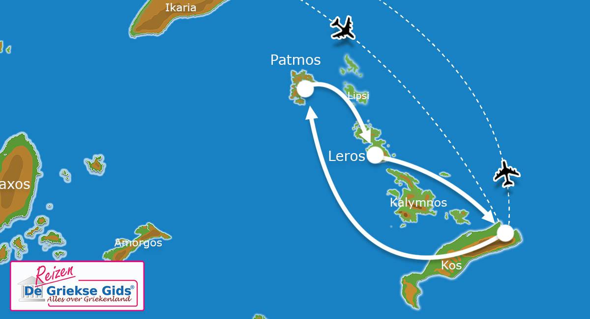 Waar ligt Eilandhoppen Patmos & Leros?