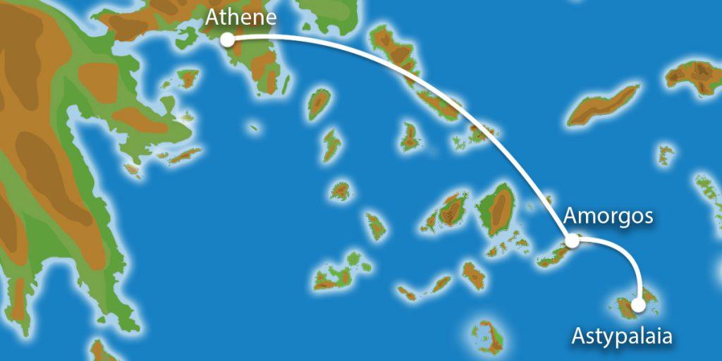 Waar ligt Eilandhoppen Amorgos, Astypalaia, Athene?