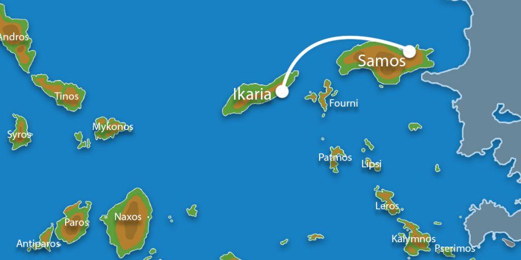 Waar ligt Eilandhoppen Samos & Ikaria?