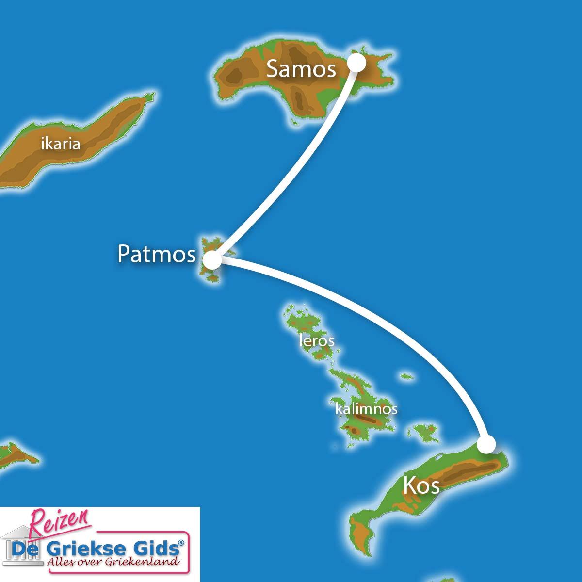 Waar ligt Eilandhoppen Samos & Kos?