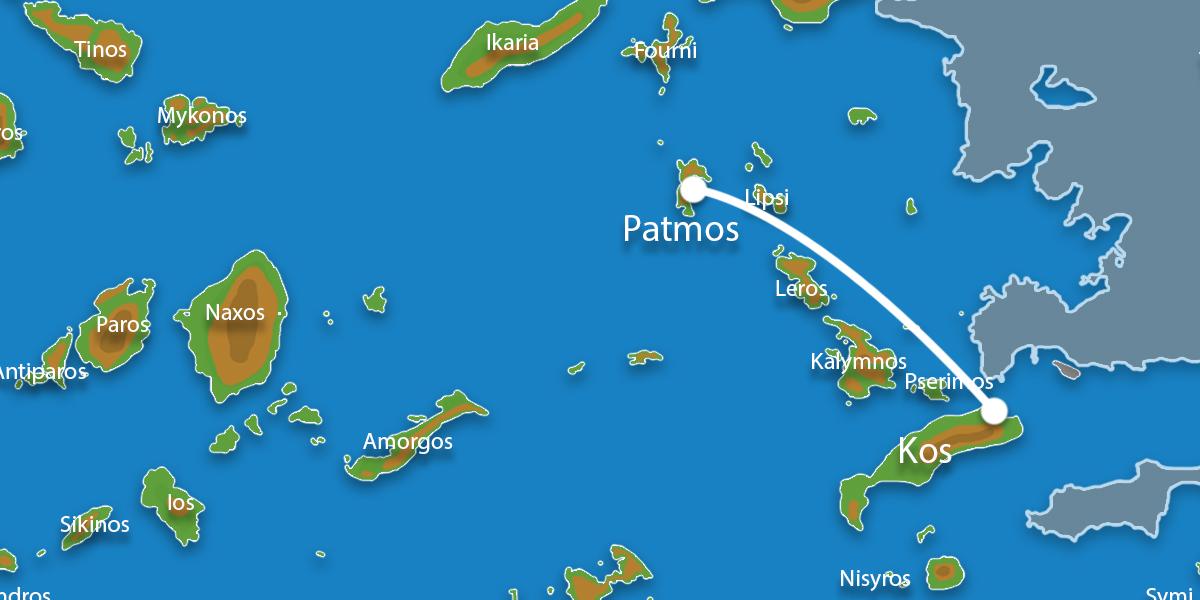 Waar ligt Eilandhoppen Kos & Patmos?