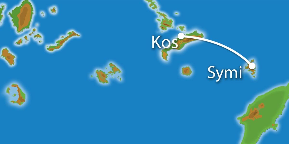 Waar ligt Eilandhoppen Kos & Symi?