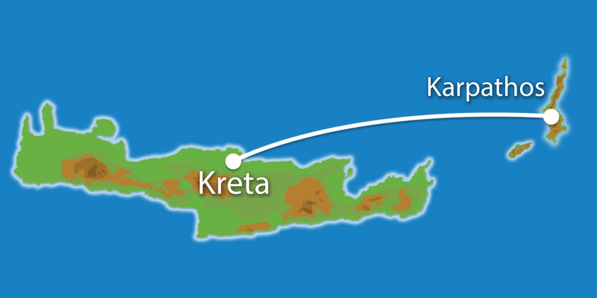 Waar ligt Eilandhoppen Kreta, Karpathos?