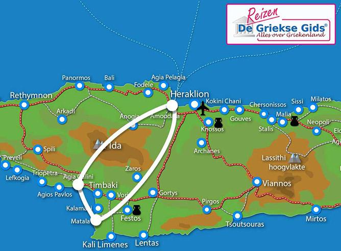 Waar ligt Fly & Drive Agia Galini - Matala Kreta?