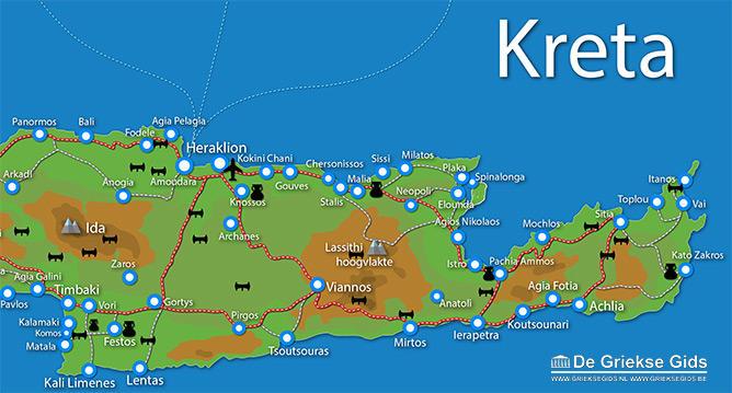 Waar ligt Fly & Drive Kreta - In de voetsporen van koning Minos?