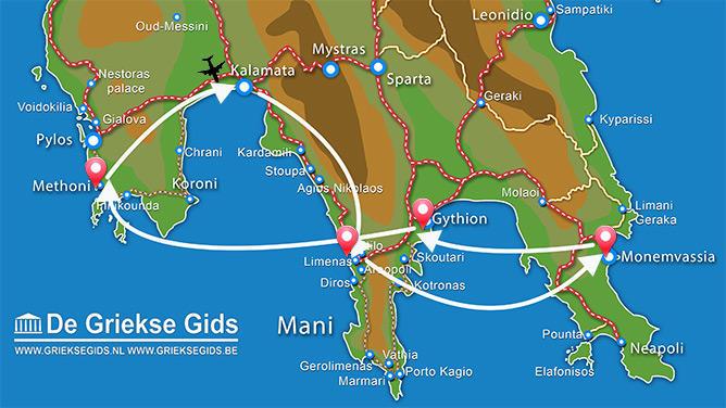 Waar ligt Fly & Drive Zuid Peloponnesos?