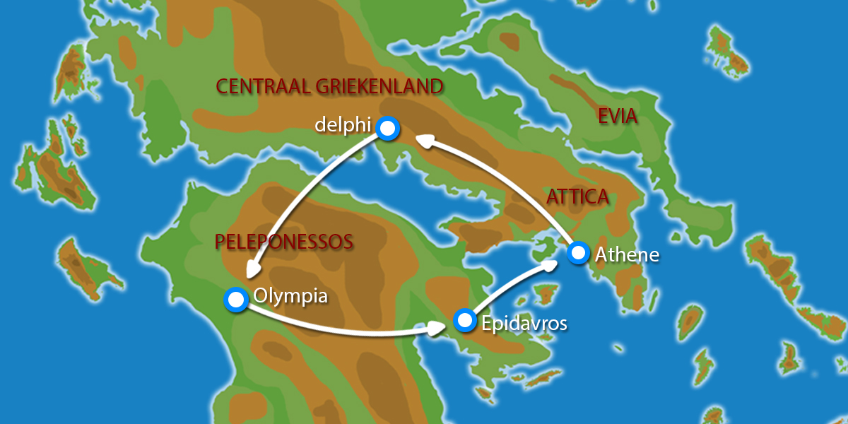 Waar ligt Fly & Drive Klassiek Griekenland?