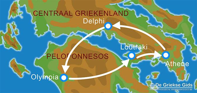 Waar ligt Fly & Drive Athene, Delphi, Olympia?