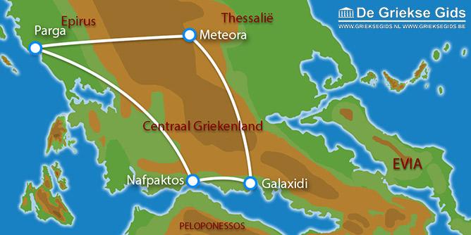 Waar ligt Fly & Drive Nafpaktos, Galaxidi, Meteora, Parga?