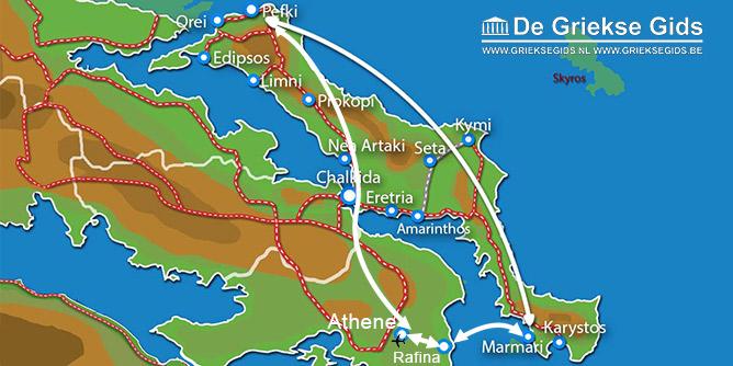 Waar ligt Fly & Drive Noord-Zuid-Evia?