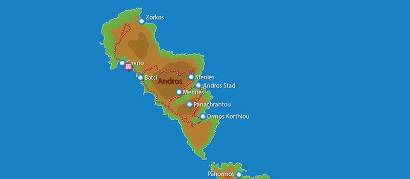 Waar ligt Andros Holiday Hotel?