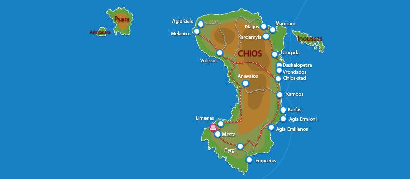 Waar ligt Lida Mary Chios?