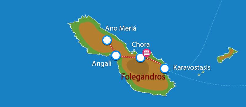 Waar ligt Folegandros Apartments?