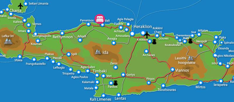 Waar ligt Bali Beach & Village (incl. auto)?