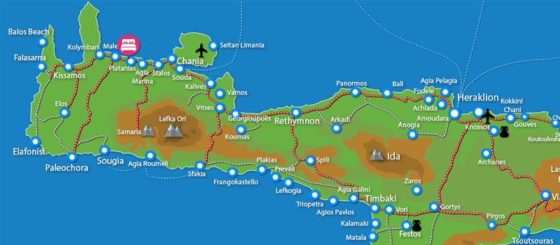 Waar ligt Daphnis Villas (incl. auto)?