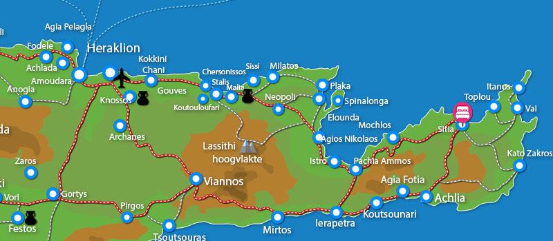 Waar ligt Sitia Beach Hotel (incl. auto)?