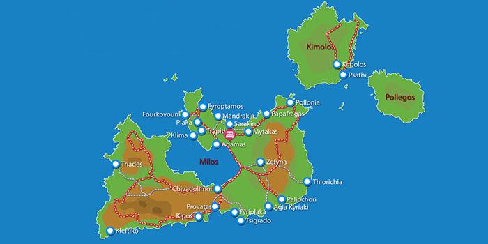 Waar ligt Santa Maria Village Milos?