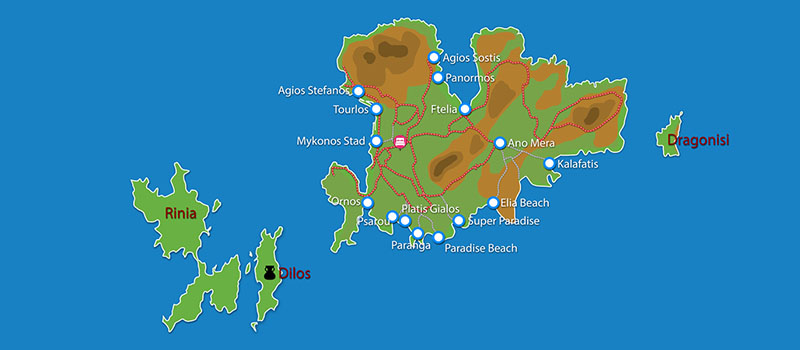 Waar ligt A Hotel Mykonos?