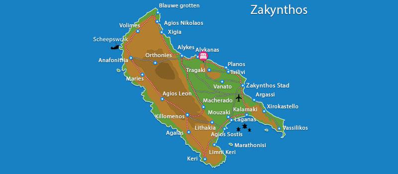 Waar ligt Calypso Villas?