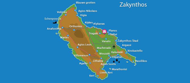 Waar ligt Playa del Zante?