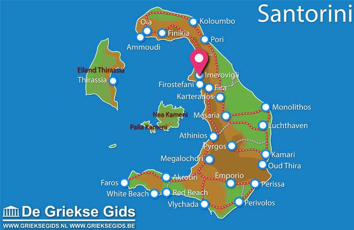 Waar ligt Rocabella Santorini Hotel & SPA?