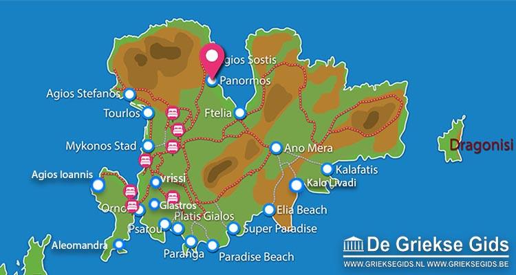 Waar ligt Mykonos Panormos Villas and Suites?