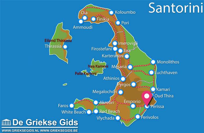 Waar ligt Meltemi Village Santorini?
