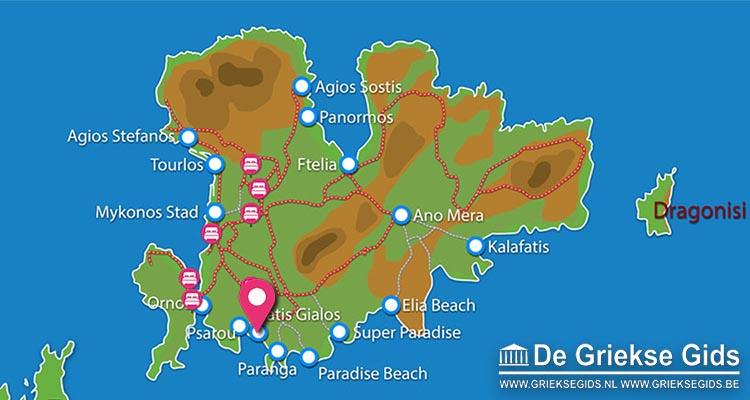 Waar ligt Mykonos Dove Beachfront Hotel?