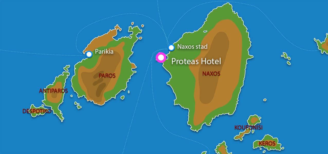 Waar ligt Proteas hotel & studios?